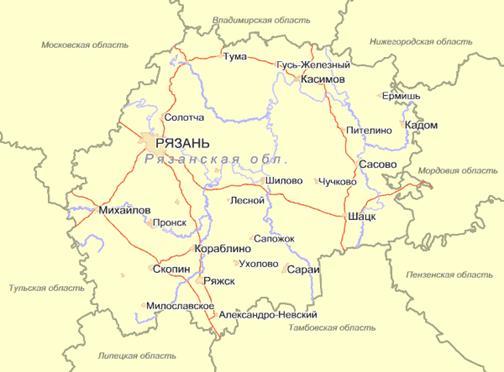 Карта-схема географического